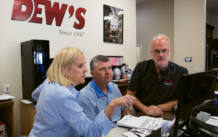 Though they face stiff competition from the big box stores, Teressa and Linley Dew continue to work hard for their customers and always in the hope of attracting new customers who prioritize friendly and affordable service.