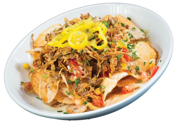 Z's Loaded Chips with house-smoked pork