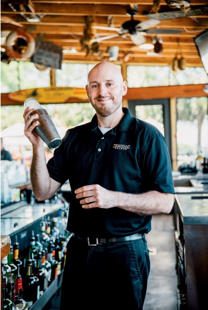 Dead Dog Saloon bartender Nick Andolora