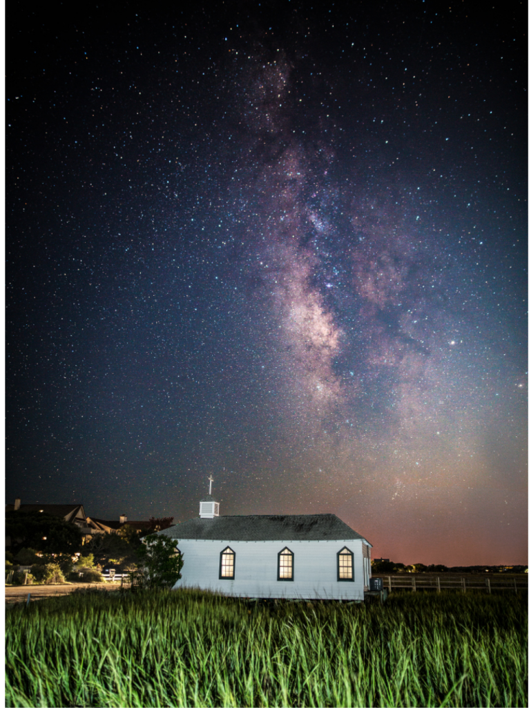 Milky Way Over Chapel Victoria Stroupe  - Pawleys Island Chapel