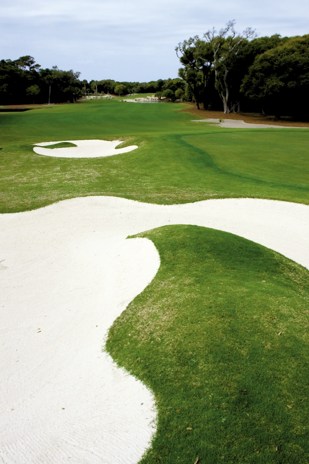<p><br />	One of the many challenging holes at the Bald Head Island Club, a members-only 18-hole course.</p>
