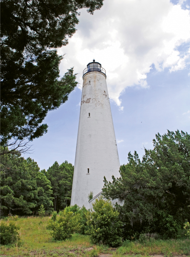 The Georgetown Lighthouse, also known as the North Island  Lighthouse, is the oldest operating lighthouse in South Carolina.  Orginally built in 1811, it was restored in 1867 after sustaining damage  during the Civil War.