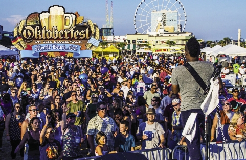 Festival Central: The Oceanfront Merchants Association produces several large outdoor concert festivals each year, including a St. Patrick's Day festival in March and Oktoberfest, drawing some 10,000 attendees downtown. OMA will expand its festival schedule by adding a Reggae Fest in October and a Mardi Gras festival in 2016.