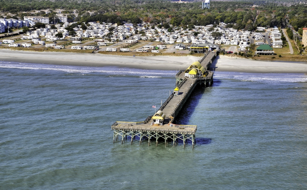 The Apache Pier and Campground is a big draw the area between Myrtle Beach and North Myrtle Beach.