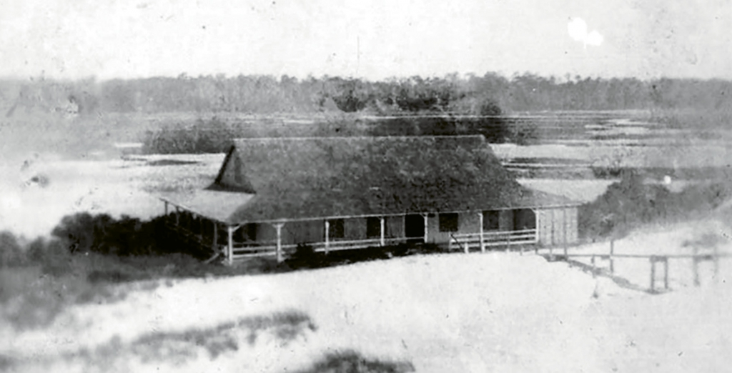 The second pavilion, built in 1925, featured wide, airy porches and a large dance floor, but no restrooms. It was replaced by the Lafayette Pavilion in 1935.