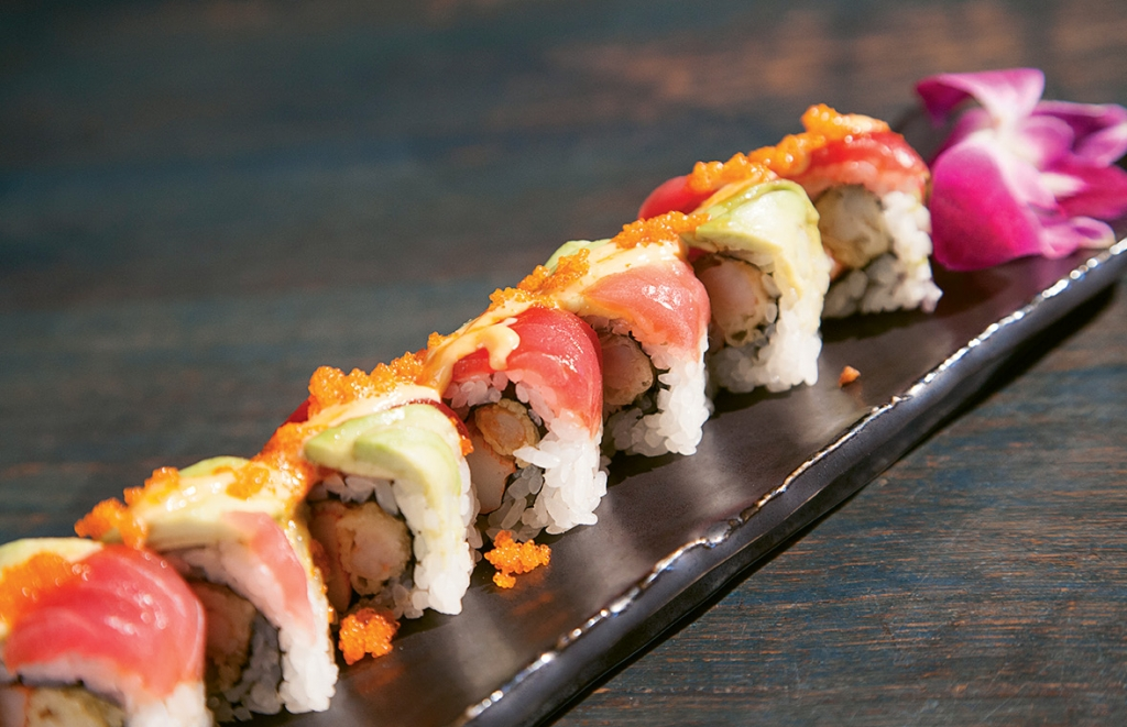The Wicked Tuna's Rainbow Roll
