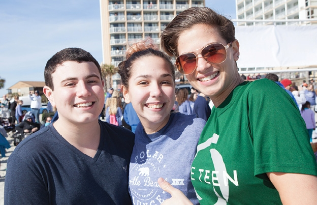 Tyler Dipalma, Miranda Webb and Rebecca Powalie