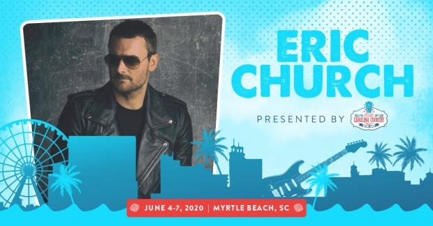 Carolina Country Music Festival 2020.Eric Church To Headline The 2020 Carolina Country Music