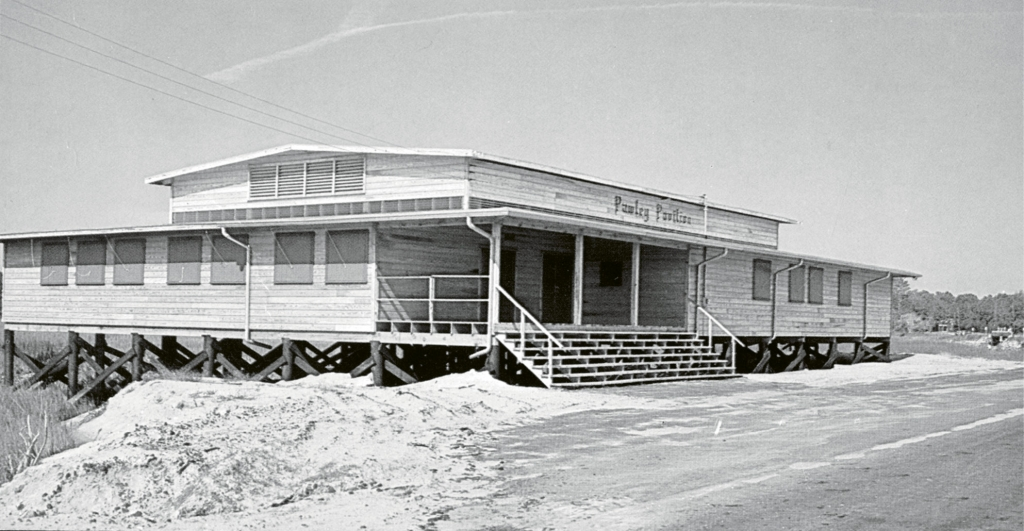 The fourth and most famous pavilion opened in 1960 and featured some of the most renowned bands on the emerging Carolina beach music scene. This site, adjacent to the Pawleys Island North Causeway, is the site of the Pawleys Island Pavilion reunions today.