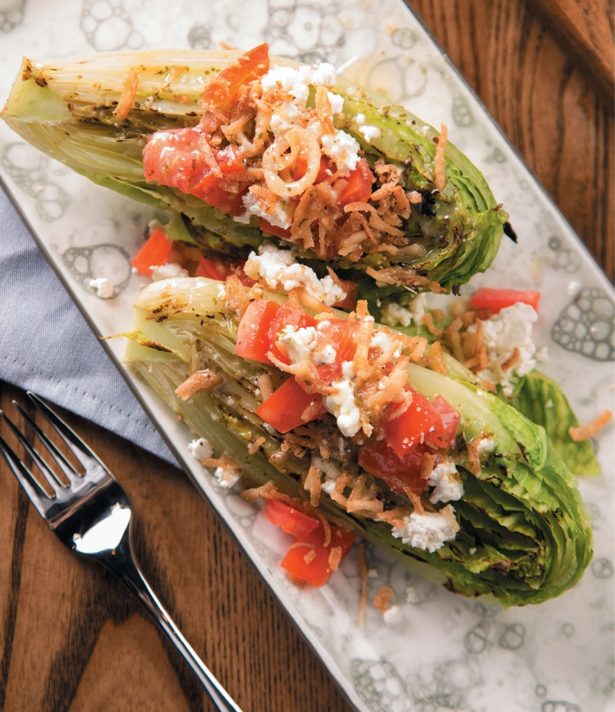Mean Greens: The Flamed Romaine is a hot little number that makes eating greens sexy.