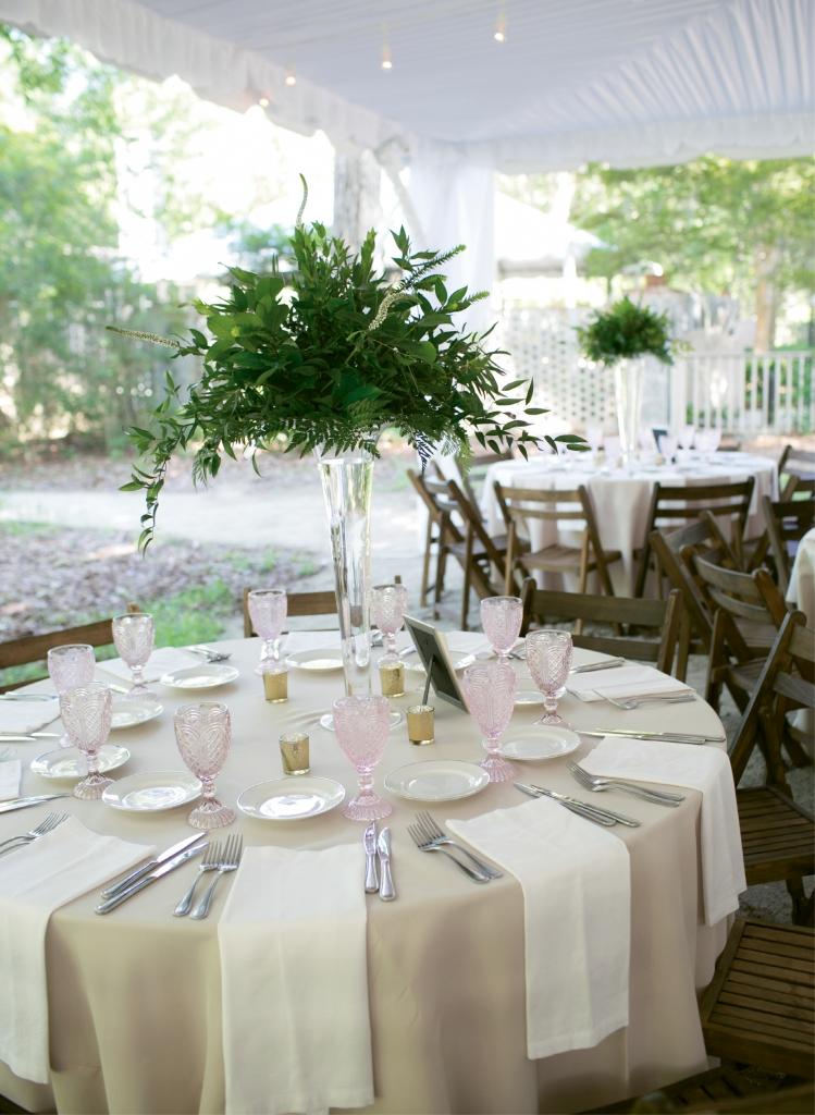 Breath of Fresh Air: Caroline's wedding inspiration was The Secret Garden, which she romantically captured at Brookgreen Gardens in Murrells Inlet.