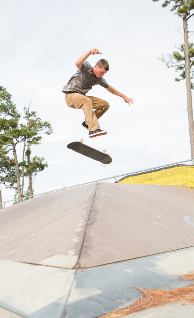 Dylan Ferguson - Ferguson doing a nollie 360 heelflip over the pyramid.