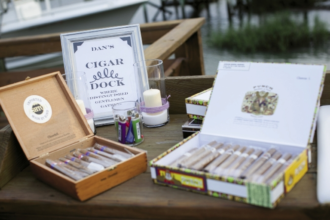 Southern Charms: From the food and cake to a cigar dock and coastal decor, all gave a nod to the South.