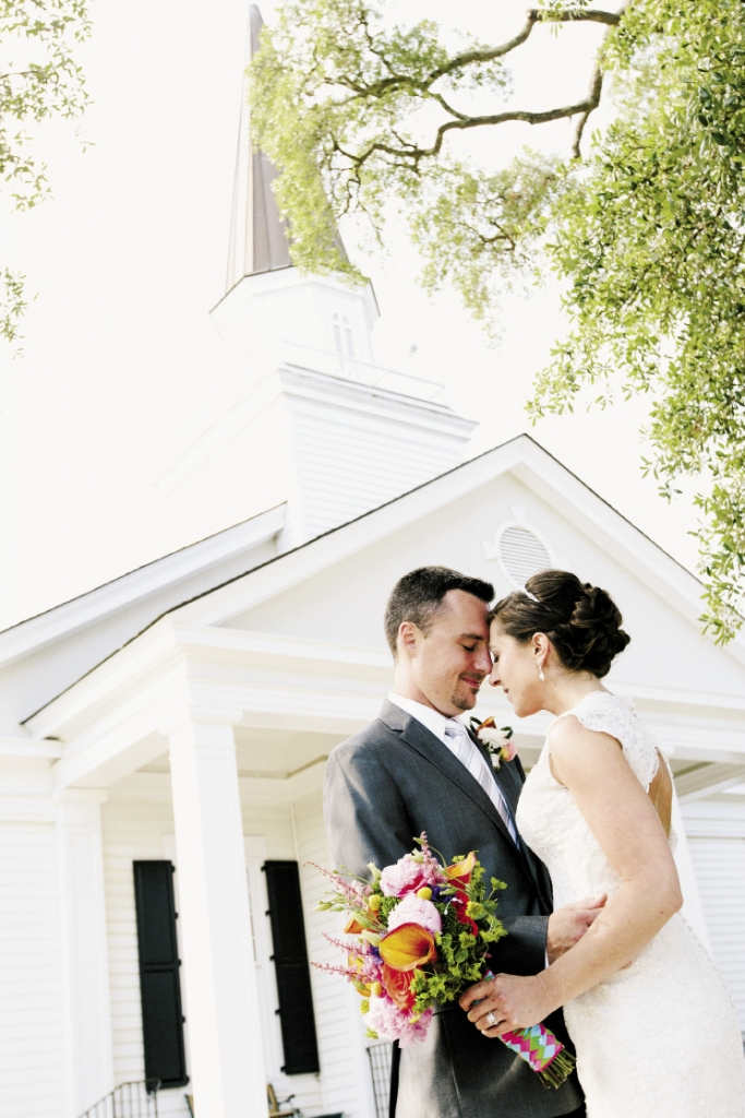 The ceremony took place at Belin Memorial United Methodist Church.