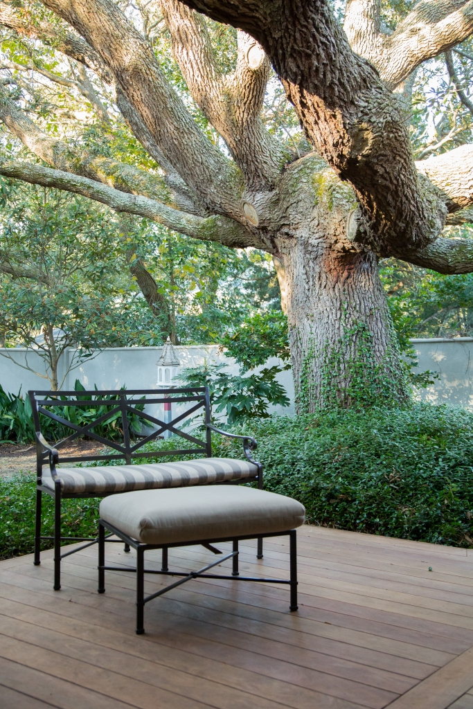 Reigning Oaks: The Chartier property is home to ages-old oak trees that set this address apart.  In fact, the couple's decision to buy this very property was mainly due to the gorgeous, sprawling oak that anchors the backyard.