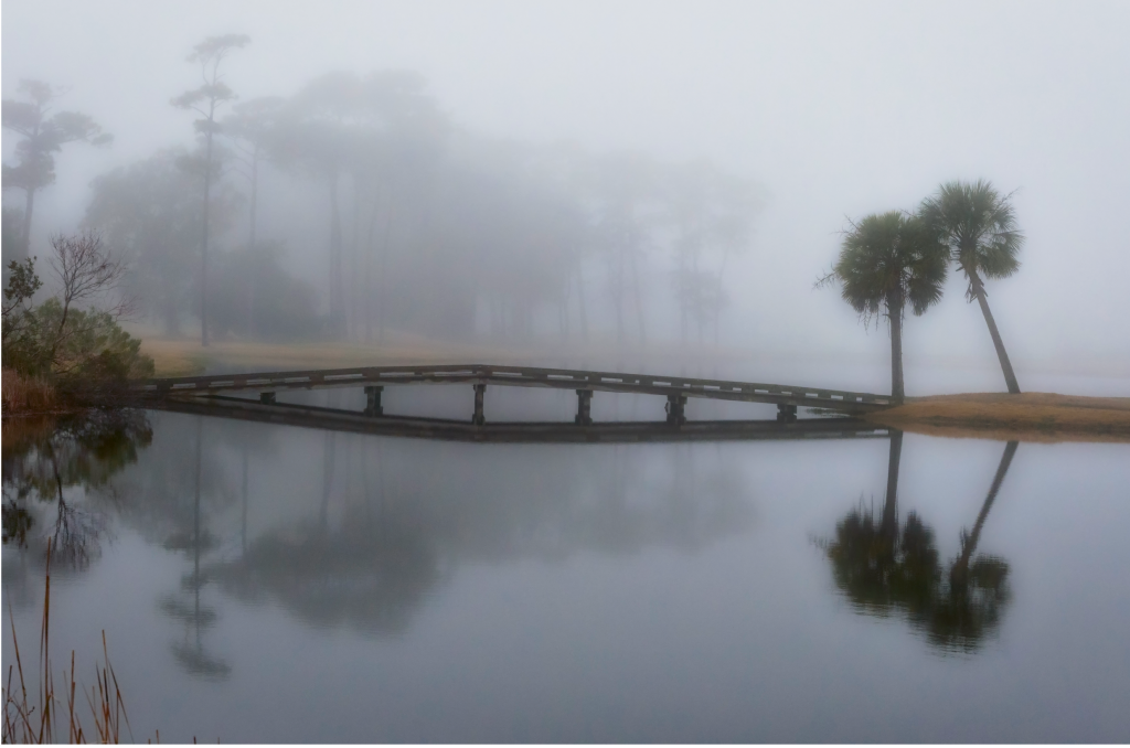 smoke on the water  Photographer: Leslie Nolan  Where: Twin Lakes in Sunset Beach, North Carolina