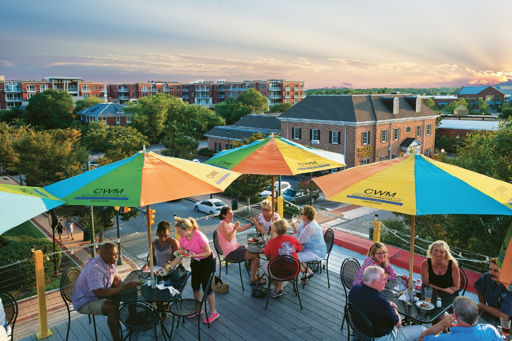 Captain Ratty's rooftop is a popular getaway after work and at sunset for locals and visitors alike.