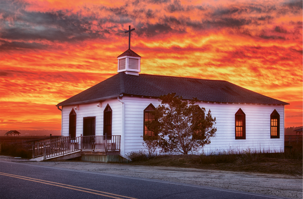Fire in the Sky  Photographer: Tom Flynn  Where: Pawleys Island Chapel