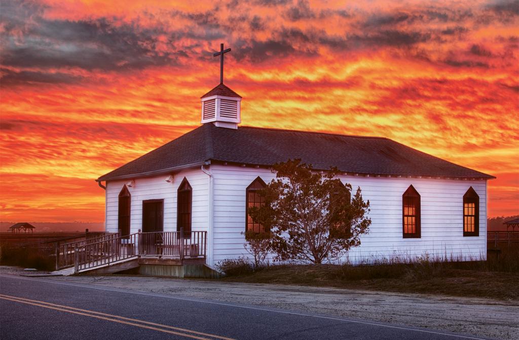 Fire in the Sky  Photographer: Tom Flynn  Where: Pawleys Island Chapel