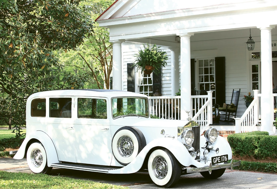 I'LL MEET YOU IN THE GARDEN: The ceremony was held at Kingston Presbyterian Church with the bride entering the church led by a Bagpiper. Susan and Stinson left in a 1937 Rolls Royce with a full moon as their backdrop to complete their picture-perfect happily ever after.