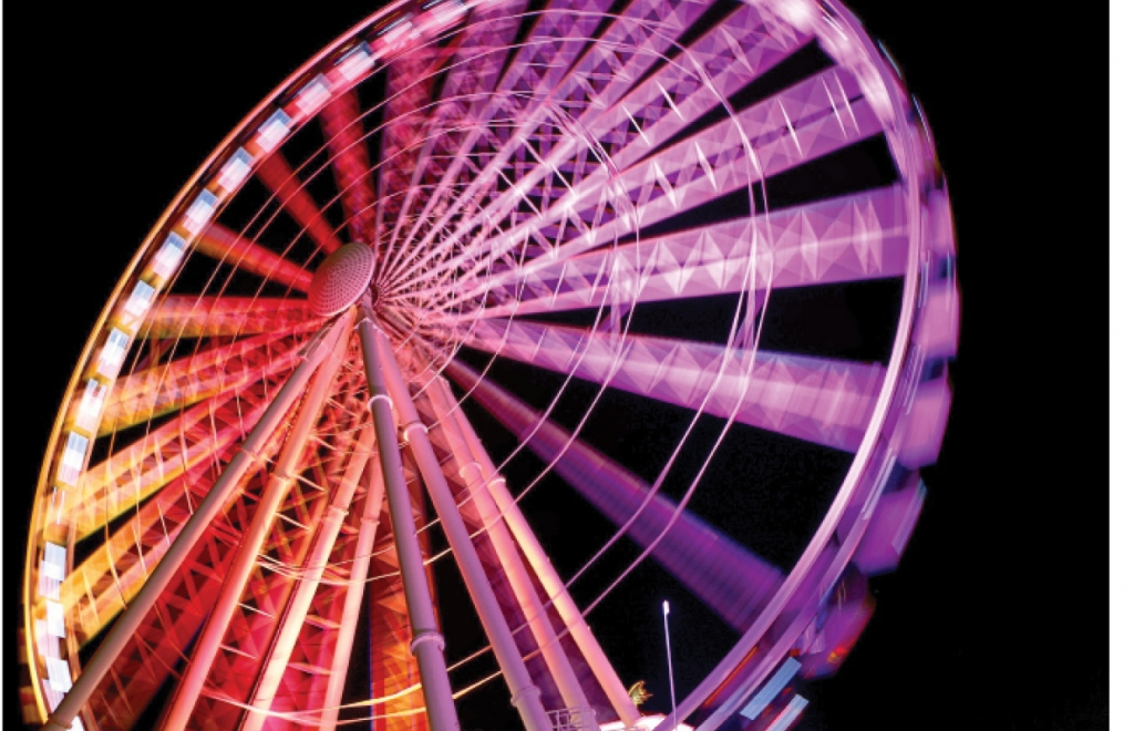 "READERS"" CHOICE WINNER - Spinning Colors Brandon Kelley Myrtle Beach SkyWheel"
