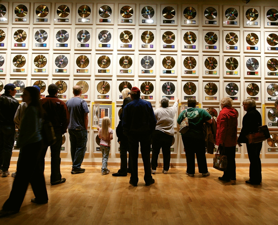 The Country Music Hall of Fame and Museum boasts more than one million visitors annually.