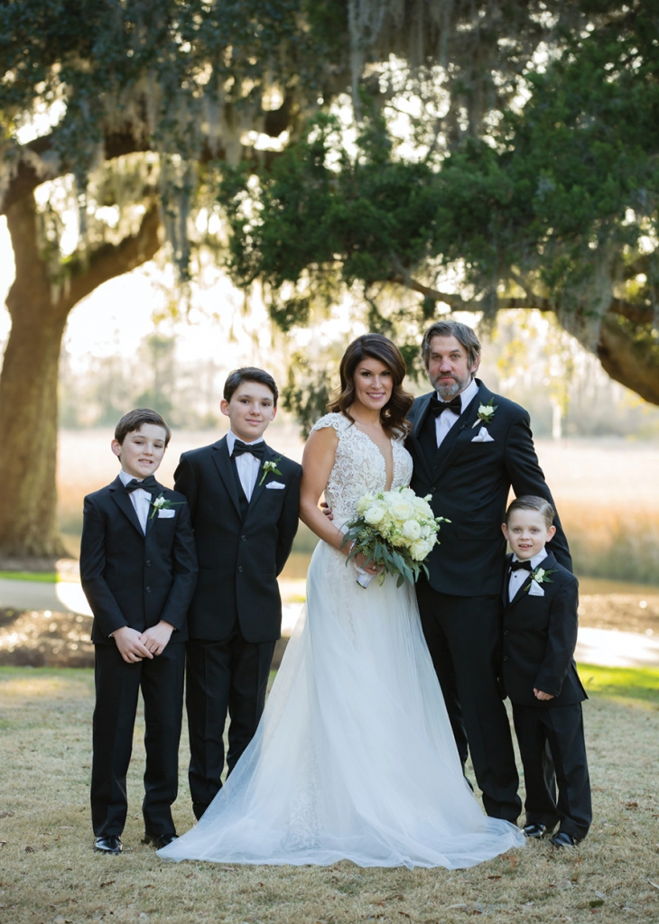 We are Family: It was of utmost importance to Erin and Eric to have their three sons front and center at the wedding.