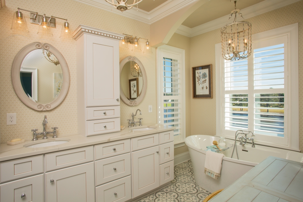 Bath Time: How can you beat a luxurious master suite soaker tub that also comes with a view of the Intracoastal Waterway?