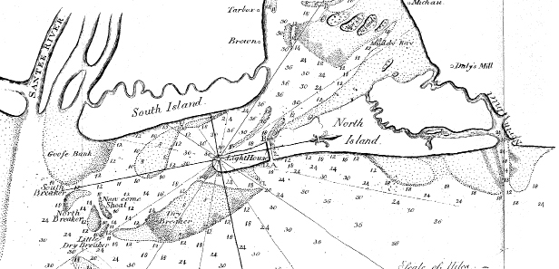 This 1802 map of North Island shows the canal.