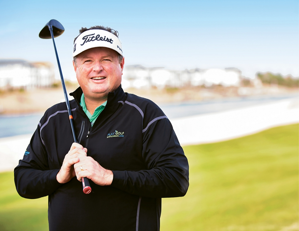 Charlie Rymer is in his comfort zone on the golf courses of Myrtle Beach.