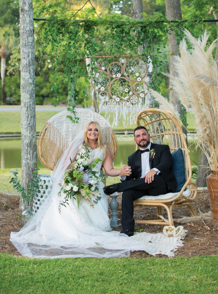 Dearly Beloved: Summer's vision for her wedding day was a blend of boho, earthy, vintage, rustic and romance.