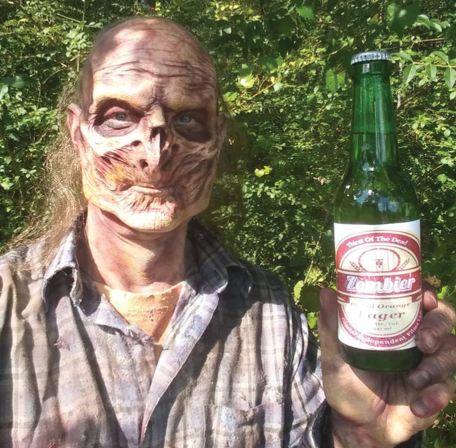 Greg French as a zombie in Thirst of the Dead.