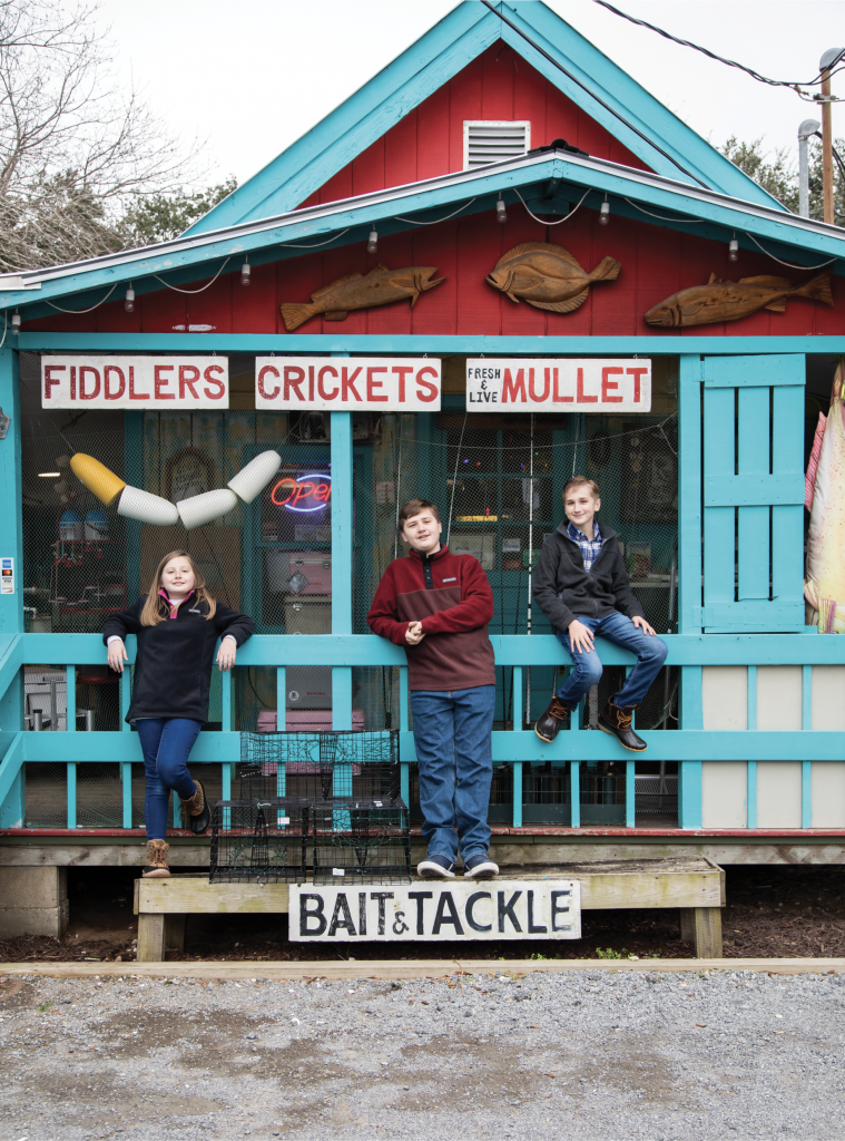 PERRY THREE: (left to right) Bella, Liam and Aden Perry are the next generation of Perry's Bait & Tackle and the youngest bait shop owners in South Carolina.