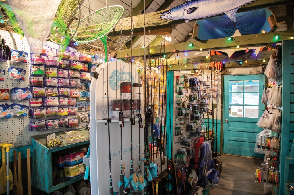GONE FISHIN': A fisherman's paradise, Perry's is stocked with anything you need for that big catch, from national brands to local lines.