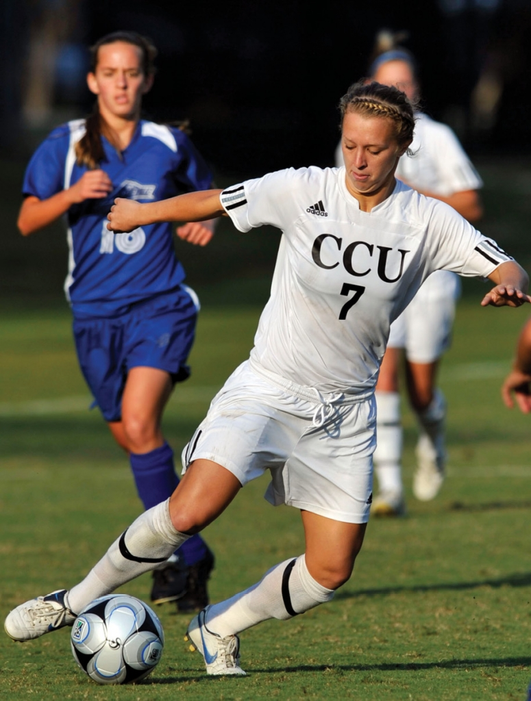 CCU Women's soccer's Ashleigh Gunning, was named Big South Player of the Year in 2007.