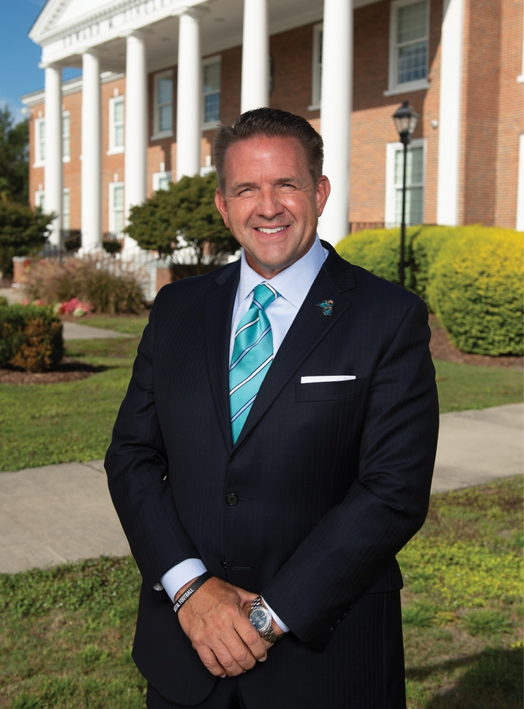 Michael T. Benson is the third president of Coastal Carolina University.