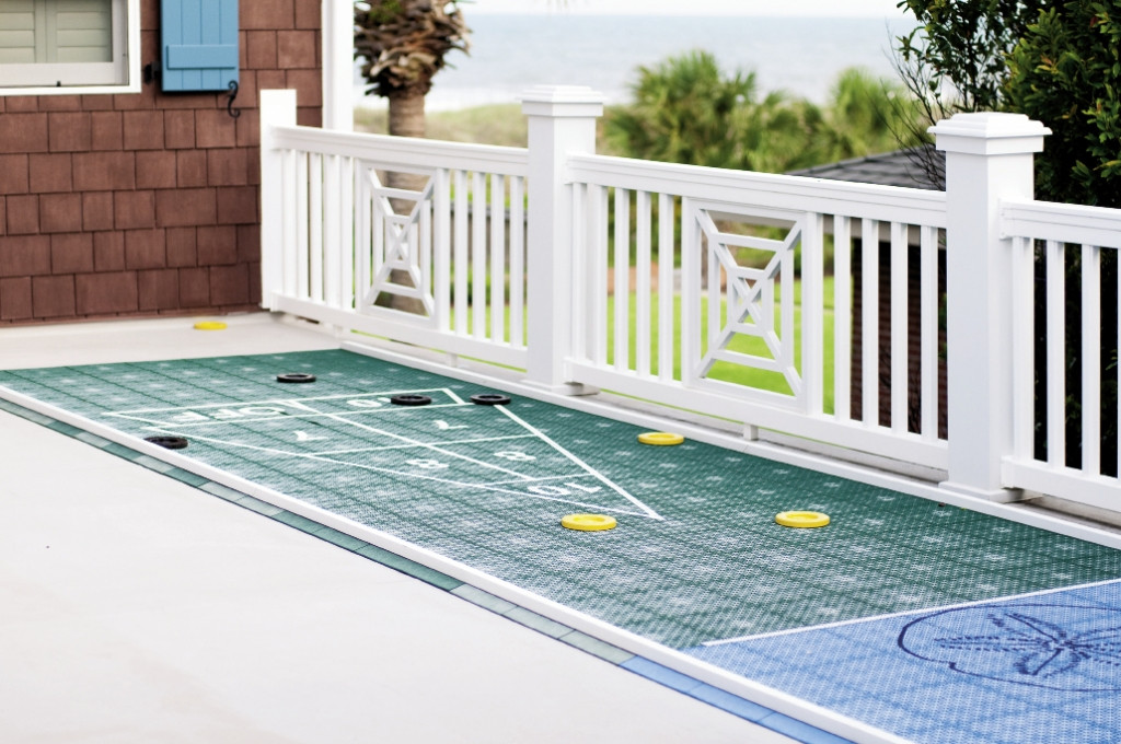 The outdoors is a sports lover's oasis, including the Clarence C. Mosack Memorial Shuffleboard Deck, a memorial putting green in honor of Carolyn's mother and a beach bocce ball court.