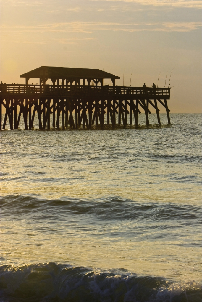 Storms are the primary enemy of piers in this region, and many in our area have been rebuilt, sometimes more than once. The Pier at Myrtle Beach State Park affords day-trippers, staycationers and fisherman less-crowded access.