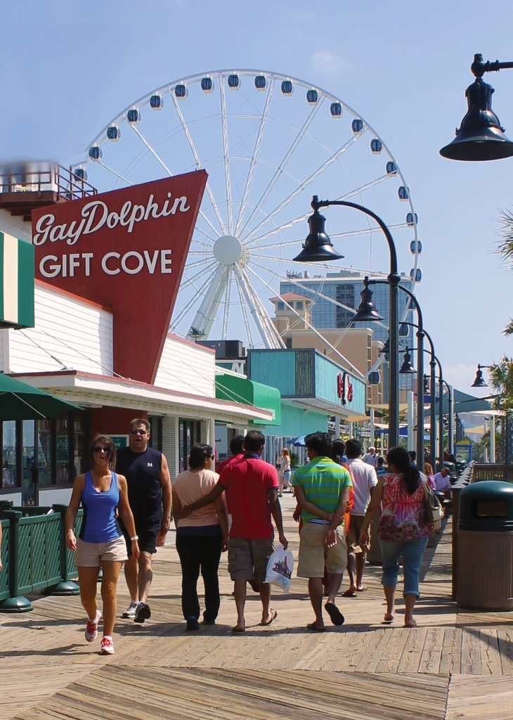 The Gay Dolphin Gift Cove, as seen from the Myrtle Beach boardwalk