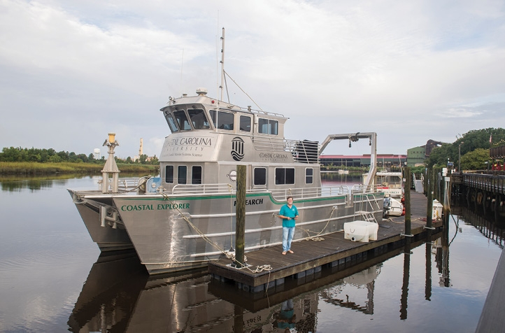 Sea School: CCU's Coastal Explorer vessel, based in Georgetown, enables students and faculty to have state-of-the-art research facilities at sea.