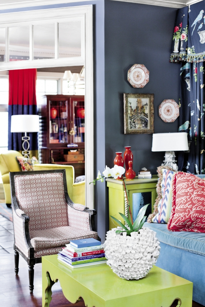 """The Grigg home is entering a new """"blue and chartreuse"""" period."""