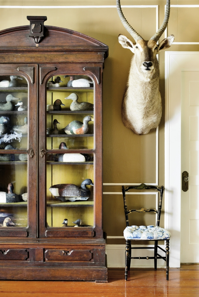 A glimpse into the impressive trophy room at Estherville.