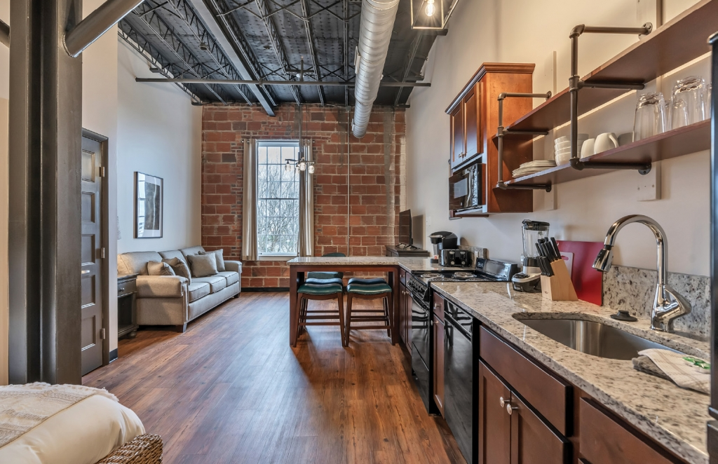 A Stay Above: Ten newly renovated condos are available as short-term rentals above GSB.