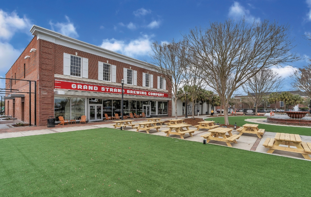 Al Fresco: The outdoor area at the new brewery is unbeatable.