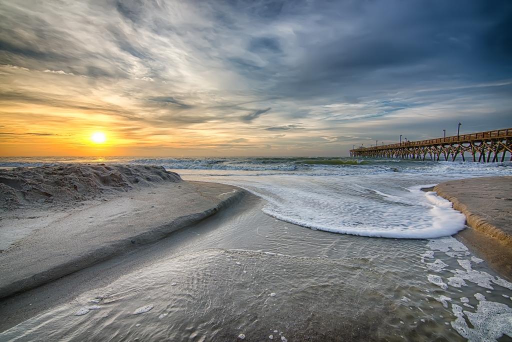 High Tide Sunrise at Surfside Pier, Photographer: Jon Snyder, Where: Surfside Beach