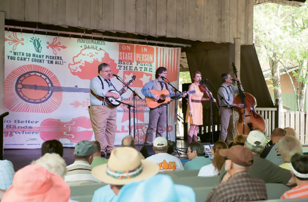The Smoky Mountain String Band performs at Dollywood's Harvest Festival.