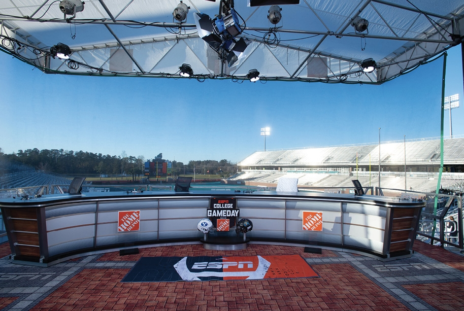 ESPN comes to town, highlighting the school's football program and the community at large, to a national audience.