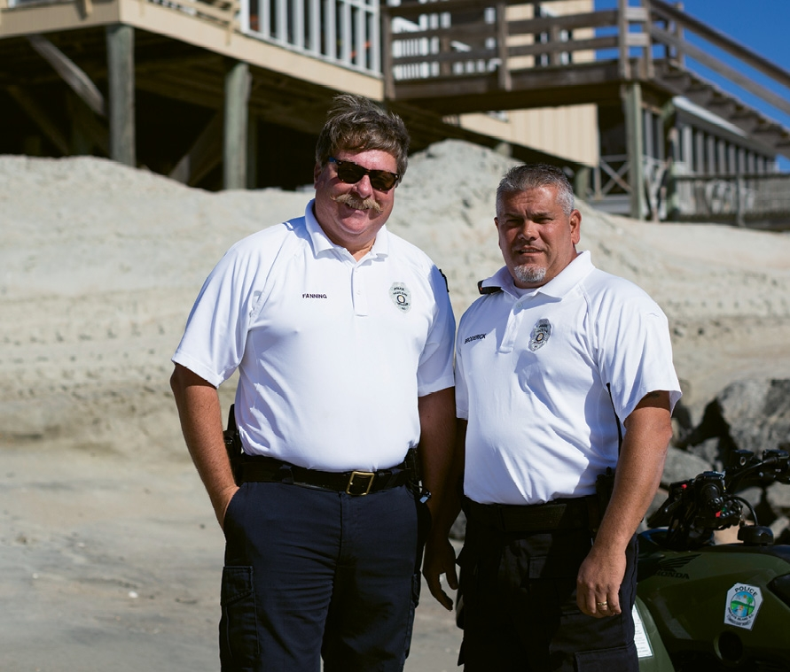 Chief Fanning with Pawleys Island police officer Denis Broderick, also an NYPD retiree and a member of both the Coastal Carolina Shields and the Myrtle Beach 10-13 Club.