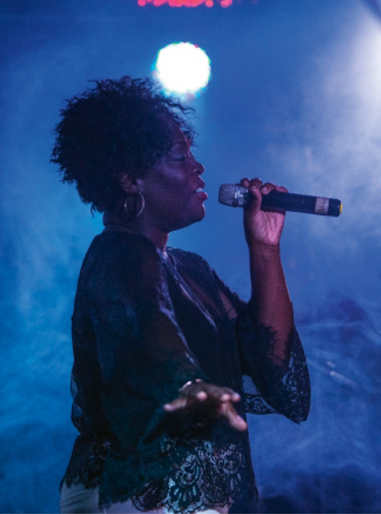 Tru Sol vocalist Natasha McKinnon performs with the band at 2001 Nightclub in Myrtle Beach.