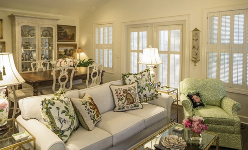Six Months Later: What a difference! The mother-in-law suite addition underwent an entire renovation to become this light, airy and creamy suite for the Pegrams' daughter, Ansley.